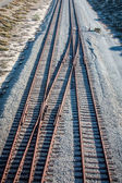 Overhead View of Railroad Tracks — Stock Photo