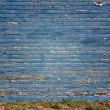 Worn Blue Exterior Wall Background or Backdrop — Stock Photo