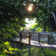 Path over Minnehaha Creek at Lake Nokomis in Minneapolis Minneso — Stock Photo