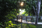 Path over Minnehaha Creek at Lake Nokomis in Minneapolis Minneso — Foto de Stock
