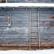 Exterior Barn in Winter Background or Backdrop — Stock Photo