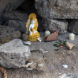 Makeshift Shrine in the Rocks — Stock Photo