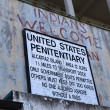 Stock Photo: Warning Sign at Alcatraz Island