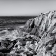 Ocean Waves at Lover's Point in Pacific Grove in Black and White — Stock Photo #22818780