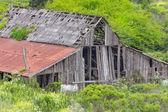 Полуразрушенный сарай сельских — Стоковое фото