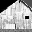 Stock Photo: Side of Barn in Black and White