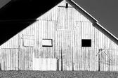 Side of Barn in Black and White — Stock Photo