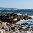 Stock Photo: Waves Crash Ashore at Pacific Grove