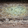 Crumbling Brick Wall Background and Backdrop — Stock Photo