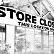 Store Closing in Black and White — Stock Photo #27141525