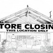 Store Closing in Black and White — Stock Photo