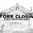 Stock Photo: Store Closing in Black and White