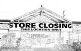 Store Closing in Black and White — Foto de Stock