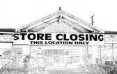 Tienda cierre en blanco y negro — Foto de Stock