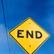 Road Sign Displaying End — Stock Photo