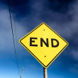 Stock Photo: Road Sign Displaying End
