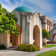 Stock Photo: Historic campus buildings of Caltech in Pasadena, California.