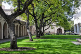 Wooded Lawn on the Campus of Caltech in Pasadena, California. — Stock Photo