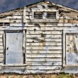 Stock Photo: Dilapidated Exterior Wood Wall