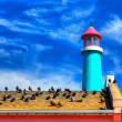 Lighthouse Against Blue Sky — Foto de Stock