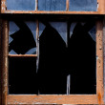 Broken Window — Stock Photo