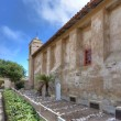 Courtyard burial site next to the main sanctuary at the Carmel Mission — Stock Photo