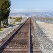 Stock Photo: Railroad Tracks Fading into Distance