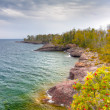 Shores of Lake Superior at Gooseberry State Park in Vertical — Stock Photo