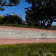 University of Southern California Entrance Sign — Stock Photo