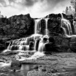 Gooseberry Falls Black and White in the Rain5 — Stock Photo