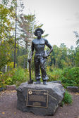 Civiian Conservation Corp Statue in Minnesota — Stock Photo