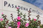 Pasadena City College Sign — Stock Photo