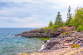 Shores of Lake Superior at Gooseberry State Park — Stock Photo