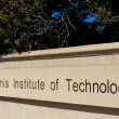Stock Photo: Caltech Entrance Sign