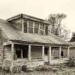 Stock Photo: Abandoned and Dilapidated House