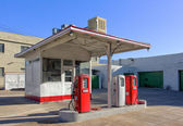 Vintage Gasoline Station — Stock Photo