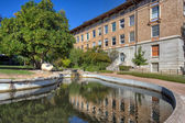 Turtle Pond and College of Natural Sciences — Stock Photo