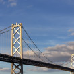 San Francisco Bay Bridge at Dusk — Stock Photo