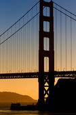 Vertical Image of the Golden Gate Bridge — Stock Photo