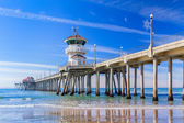 The Huntington Beach Pier — Stock Photo