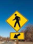 Pedestrian Crossing Vertical Sign — Stock Photo