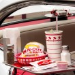 Depiction In-N-Out Burger drive-in restaurant — Stock Photo