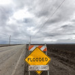 Stock Photo: Flooded Roadway Sign Vertical Image