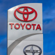 ToyotAutomobile Dealership Sign — Stock Photo #41173347