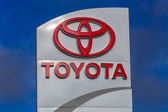 Toyota Automobile Dealership Sign — Stock Photo