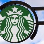 Starbucks Coffee shop sign — Stock Photo #41891365