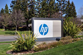 Hewlett-Packard corporate headquarters in Silicon Valley — Stok fotoğraf