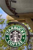 Starbucks Coffee Sign — Stock Photo