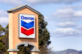 Chevron Gas Station Sign — ストック写真