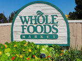 Whole Food Market exterior sign. — Stock Photo
